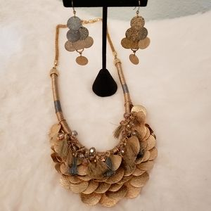 Loft necklace and earrings